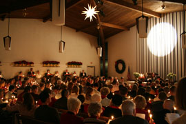 Christmas Eve, East Hills Moravian Church, Bethlehem, Pennsylvania